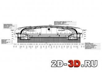Ледовая арена на 3500 мест чертежи