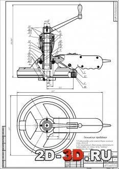 сборочный чертеж расточного портативного станка