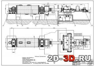 Шаровая трубная мельница 4000х13500