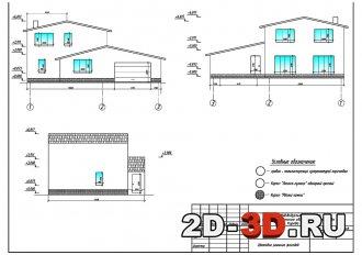 Двухэтажный жилой дом 159 м2 из стеновых газобетонных блоков с облицовкой из кирпича с гаражом