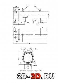 Общий вид охладителя выпара ОВА-2