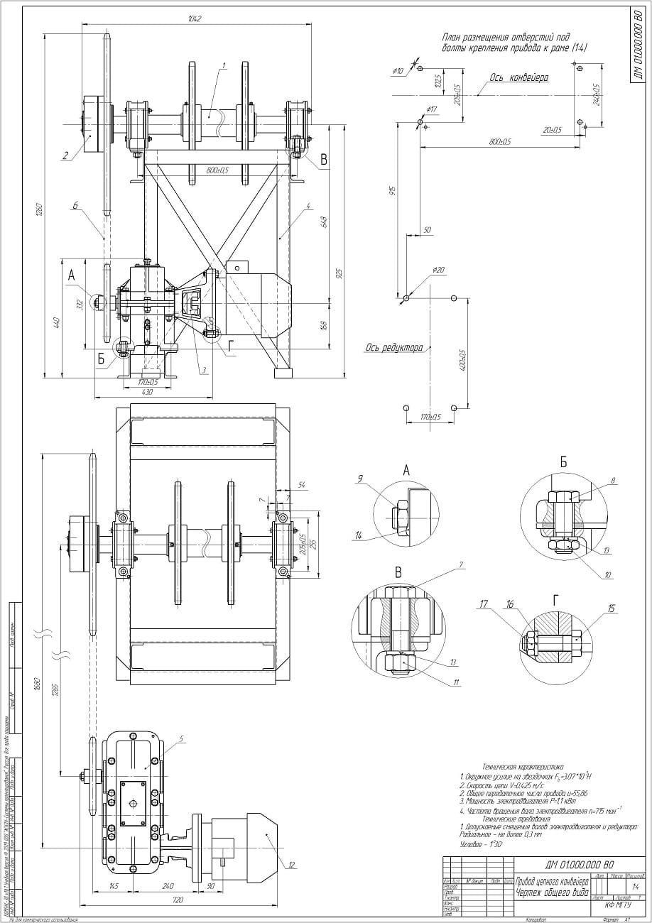 технические характеристики цепного транспортера